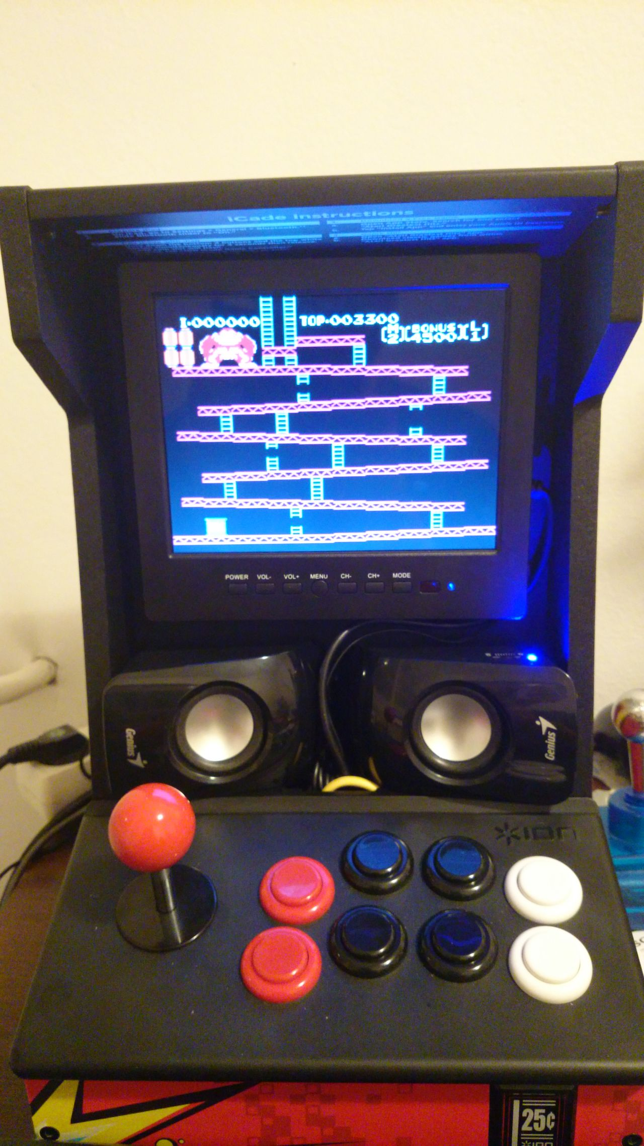 Raspberry Pi Game Cabinet Ultimate Icade Raspberry Pi Arcade Bartop Diy Mod